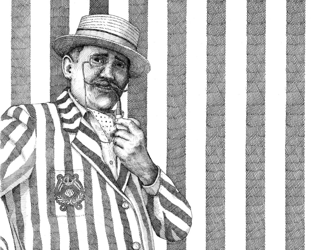 """Illustrazione contenuta nel libro """"Mustacchi"""" edito dalla Logos edizioni in Italia e dalla Éditions du Lampion in Francia."""